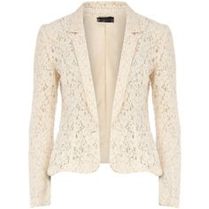 Another beautiful lace blazer. I like that this one is cream instead of white.