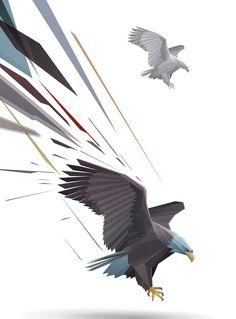 Eagle Bird by Free Graphic Vector (via Creattica)