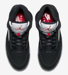 db7884a7cb4a Official images and release date for the Air Jordan 5 Retro OG Metallic  Silver (colorway  Black Metallic Silver-White-Fire Red