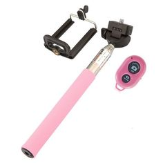 Fashion Extendable Self Selfie Stick Handheld Monopod+Clip Holder