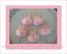 Pinkalicious/Ballerina Birthday Party Love these cute tutu's Use them as cupcake toppers or as part of your invitation or decor. There's more to be seen here