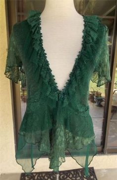 Pretty Angel Victorian Lace 3 Piece Tunic Dress Green and Berry with Sarf