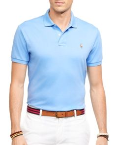 Polo Ralph Lauren Pima Soft Touch Regular Fit Polo - Island Blue