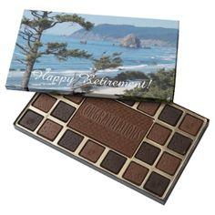 Ocean Coastline Happy Retirement 45 Piece Box Of Chocolates - photography gifts diy custom unique special