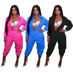 6c25a1145e3 Sexy Long Sleeve Casual Solid Nightclub Party Rompers Women Clubwear  Jumpsuit  EFA2Z  Jumpsuit