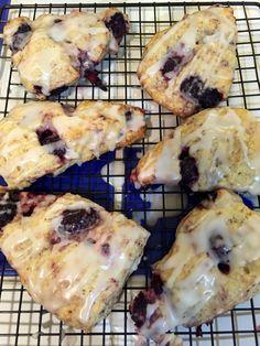 Marionberry scones.