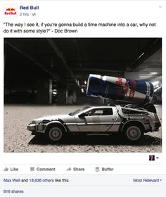 What would Doc Brown have done, if Red Bull would already have been invented back in 1985? #BTTFDay