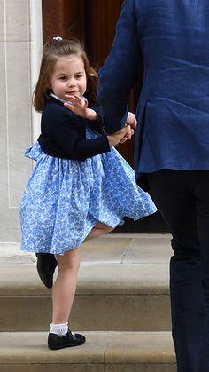 Princess Charlotte cute at the lindo wing