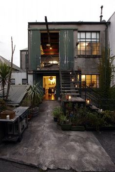 #escalera #cancelería #patio