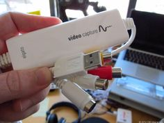tape digital transfer (photos) View the steps involved for transferring you VHS home videos to digital files on your computer.View the steps involved for transferring you VHS home videos to digital files on your computer. Tech Gadgets, Cool Gadgets, Computer Help, Computer Tips, Foto Fun, Vhs To Dvd, Photo Storage, Video Capture, Home Movies