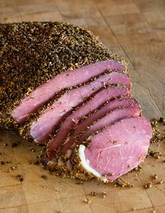 Venison pastrami you can make at home. This is a classic venison pastrami recipe that can be make with any deer roast, or you can use beef. Venison Pastrami Recipe, Venison Sausage Recipes, Venison Meat, Elk Recipes, Wild Game Recipes, Deer Roast, Smoking Recipes, Fruit, Cooking Games
