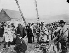Tlingit dancers Klukwan,  Alaska, October 14, 1898
