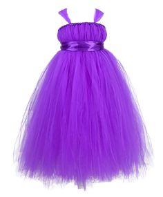 55ccb26e6 Púrpura Vestidos de Flores Niña Vestidos Vestidos de Bodas Vestido Hermoso  Tutú Hecho A Mano Vestidos de Tul Vestidos de dama de honor Vestidos De  Carnaval