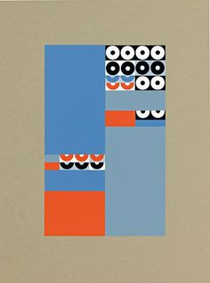 Sophie Taeuber-Arp 'Ohne Titel' 1957. Pattern. Diff colors