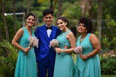 Noivo e madrinhas || casamento no campo