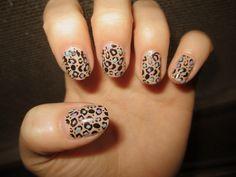 Multi-Coloured Leopard Nails