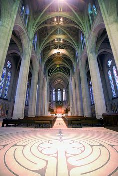 Grace Cathedral - Episcopal - San Francisco--if i were religious, i'd wanna get married here.  it's stunning.