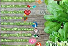 Top 10 Health Benefits of Spinach