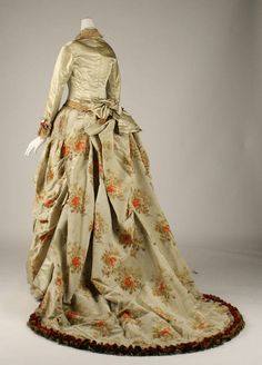 Afternoon dress, Worth, 1875.