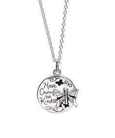 "Look at this #zulilyfind! Cinderella ""Have Courage Be Kind"" Butterfly Pendant Necklace #zulilyfinds"