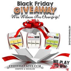 #BlackFriday is approaching, so it means it's #GIVEAWAY time! We are giving away 1x #Wilson #Tennis Pro #Overgrip Pack and to enter the competition, you'll need to follow these simple steps:⠀ Step 1: Make sure you're following @etennis_league⠀ Step 2: LIKE this post⠀ Step 3: TAG 3 FRIENDS who play tennis in the comment section⠀ Step 4: Like eTennisLeague FACEBOOK PAGE⠀ Step 5: Be patient until Friday, NOV 24, when we'll announce the winner!⠀ ⠀ Each completed step gives you advantage, and the…