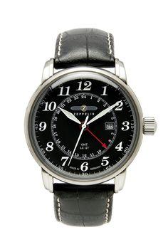 Zeppelin GMT-Uhr Nr. 7642-2 mit Gravur. Für ein individuelles Geschenk zu jedem Anlass. Wir gravieren Texte, Grafiken und Logos. Hier bestellen!