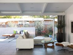 Classic Silicon Valley house gets modern makeover and modern outdoor area inspired by traditional Japanese architecture