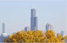 This Nov. 7, 2013, photo shows a partial view of Chicago's 110 story, 1,450 foot Willis Tower. The Tower is in contention with the 104-story...