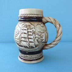 Vintage Avon Collectible Stein Mug  Sailing Ships by HootsHouse, $6.00