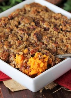 Southern Sweet Potato Casserole in Baking Dish Image Best Sweet Potato Casserole, Sweet Potato Souffle, Potatoe Casserole Recipes, Sweet Potato Recipes, Casserole Dishes, Sweet Potato Pudding, Vegetable Casserole, Thanksgiving Recipes, Fall Recipes