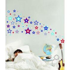 Forwalls - Muurstickers super stars blue
