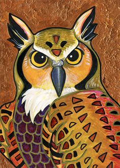 """Klimt's Owl"" by `ursulav on deviantART - This is for me to retain a link to her gallery, because I love her work..."
