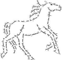 Calligramme cheval                                                                                                                                                                                 Plus