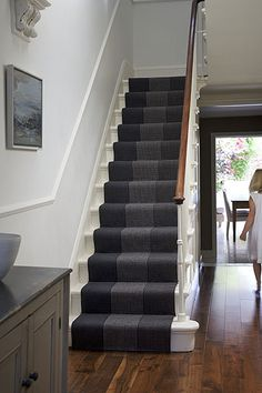 I love stairs.  I am happy that with the remodel we opened up our stairwell with a banister.  I now want a stair runner and have been collec...