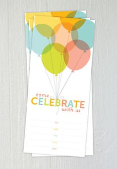 The 15 Best Free Printable Birthday Invitations: Balloon Birthday Invitations by One Charming Party