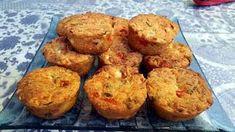 Φανταστικά Αλμυρά Μάφινς με φέτα και πιπεριές !!! Cap Cake, Savory Muffins, Savoury Pies, Party Snacks, Feta, Food Processor Recipes, Lunch Box, Brunch, Food And Drink