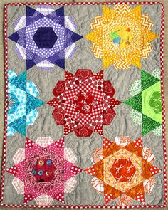 Rose Star Quilt by Artsy-Craftsy Ivy, via Flickr
