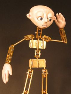 How to make a brass ball-jointed armature, for stop motion puppetry.