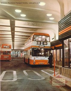 Manchester's #Arndale bus station opened in the late 1970s but, to be honest, never looked as inviting as it does in this official photo. There were few regrets when it closed, precipitated by the IRA bomb planted just around the corner from here in 1996. Its functions are now undertaken by #Shudehill Interchange, a far more modern and comfortable place.