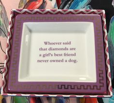 Whether your best friends are sparkly or furry this catchall is sure to make you smile!   #dogs #dogsforlikes #gifts #decorations #fun #funny #lol #hpvillage #highlandpark #highlandparkvillage
