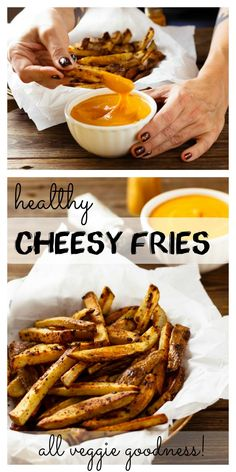 Healthy Cheesy Fries:| no regrets, all cheesy fries deliciousness.