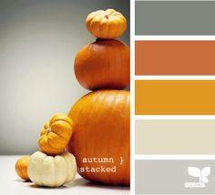 pumpkin colour pallet, oranges and greys by StarMeKitten
