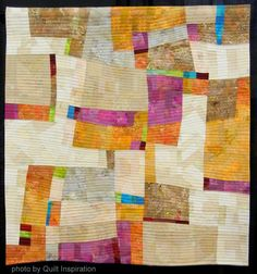Quilt Inspiration: Modern Quilt Month: Improvisational quilting