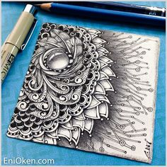Shading complex Zentangle is possible And the shading didn't take that long at all. Zentangle Artwork, Drawings, Creative, Doodle Art, Art, Zentangle Patterns, Creative Drawing, Doodle Drawings, Zen Art