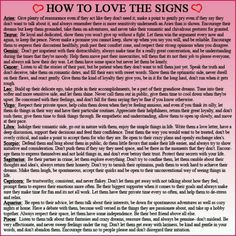 how to love the signs #astrology #astrological