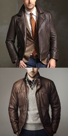 Provides you fashion looking as well as comfy feeling with afordable Leather Jacket Outfits, Men's Leather Jacket, Mode Masculine, Style Costume Homme, Traje Casual, Mens Fashion Wear, Fashion Fashion, Herren Outfit, Mens Clothing Styles