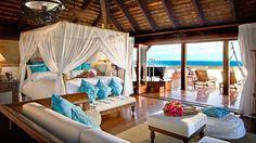 Necker Island-suite-canopy-bed-ocean-view