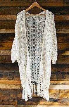 Fringe Crochet Kimono.