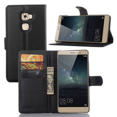 Free Shipping PU Leather Huawei Mate S Flip Case Cover Pouch Card Slot For Huawei Mate S Mobile Phone