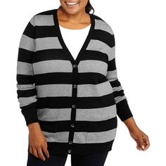 Plus Size Long Boyfriend Cardigan | Plus Size Cardigans & Sweaters ...